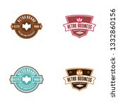 retro logo concept | Shutterstock .eps vector #1332860156