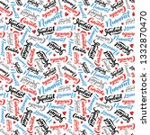 pattern with lettering of... | Shutterstock .eps vector #1332870470