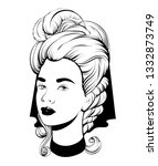 vector hand drawn illustration... | Shutterstock .eps vector #1332873749