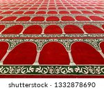 detail of carpet inside mosque...