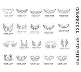 Wings   Hand Drawn   Set  ...