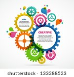 industrial abstract colorful... | Shutterstock .eps vector #133288523