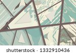 abstract collage asymmetric... | Shutterstock .eps vector #1332910436