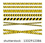 caution and danger tapes.... | Shutterstock .eps vector #1332912386