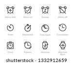 set of alarm  time  clock ... | Shutterstock .eps vector #1332912659