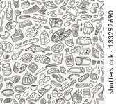 food  cookery   seamless pattern | Shutterstock .eps vector #133292690
