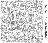 food doodles | Shutterstock .eps vector #133292696