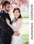 beautiful happy bride and groom ...   Shutterstock . vector #133293140