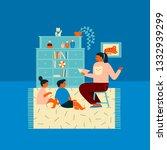 preschool education children... | Shutterstock .eps vector #1332939299