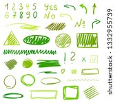hand drawn infographic elements ... | Shutterstock .eps vector #1332955739