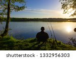angler sitting on the chair... | Shutterstock . vector #1332956303