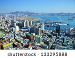 Downtown cityscape of Busan, South Korea - stock photo