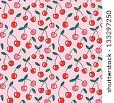 bright cherry seamless pattern. ... | Shutterstock .eps vector #133297250