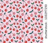 bright cherry seamless pattern. ...   Shutterstock .eps vector #133297250