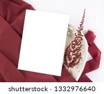 burgundy wedding invitation... | Shutterstock . vector #1332976640