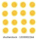 fresh yellow lemon isolated on...   Shutterstock . vector #1333002266