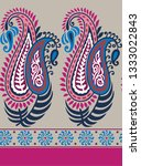 traditional paisley pattern on... | Shutterstock .eps vector #1333022843