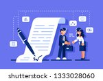 successful business agreement.... | Shutterstock .eps vector #1333028060