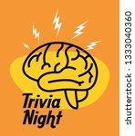 trivia night design | Shutterstock .eps vector #1333040360