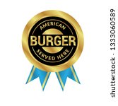 american burger gold sign.gold... | Shutterstock .eps vector #1333060589
