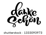 hand drawn lettering danke... | Shutterstock . vector #1333093973
