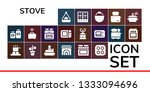 stove icon set. 19 filled stove ... | Shutterstock .eps vector #1333094696