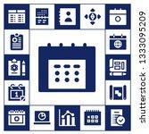 plan icon set. 17 filled plan... | Shutterstock .eps vector #1333095209