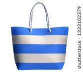 blue stripe beach bag  isolated ...   Shutterstock . vector #1333102379
