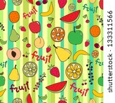 fruit vector seamless pattern | Shutterstock .eps vector #133311566