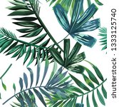 seamless pattern with tropical... | Shutterstock .eps vector #1333125740