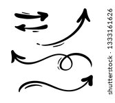 abstract arrows set. doodle... | Shutterstock . vector #1333161626