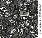 music   seamless pattern | Shutterstock .eps vector #133316360
