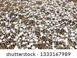 crowd of small symbolic 3d... | Shutterstock . vector #1333167989