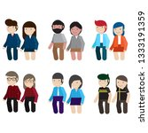 group of working people... | Shutterstock .eps vector #1333191359