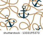 seamless rope pattern with... | Shutterstock .eps vector #1333195373