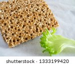 crisp breads with sesame seeds... | Shutterstock . vector #1333199420