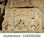 relief depicting coronation of... | Shutterstock . vector #1333202360