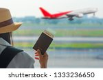 hand of woman traveller holding ... | Shutterstock . vector #1333236650
