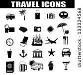 travel icons set on white... | Shutterstock .eps vector #133324568