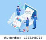 isometric concept of business... | Shutterstock .eps vector #1333248713