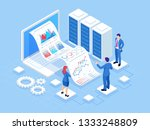 isometric concept of business... | Shutterstock .eps vector #1333248809