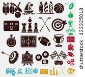 sport icons   Shutterstock .eps vector #133325018