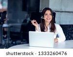 portrait of happy smiling... | Shutterstock . vector #1333260476