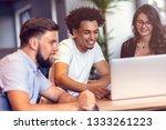 teamwork concept.young creative ... | Shutterstock . vector #1333261223