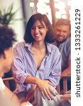 teamwork concept.young creative ... | Shutterstock . vector #1333261229