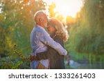 happy senior couple in love.... | Shutterstock . vector #1333261403