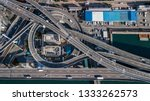 aerial view interchange highway ... | Shutterstock . vector #1333262573