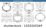 hand drawn vector ornate swirl... | Shutterstock .eps vector #1333265369