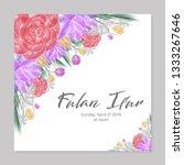 watercolor wreath wedding card | Shutterstock .eps vector #1333267646