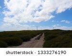 ten mile lagoon wind farm is... | Shutterstock . vector #1333276190